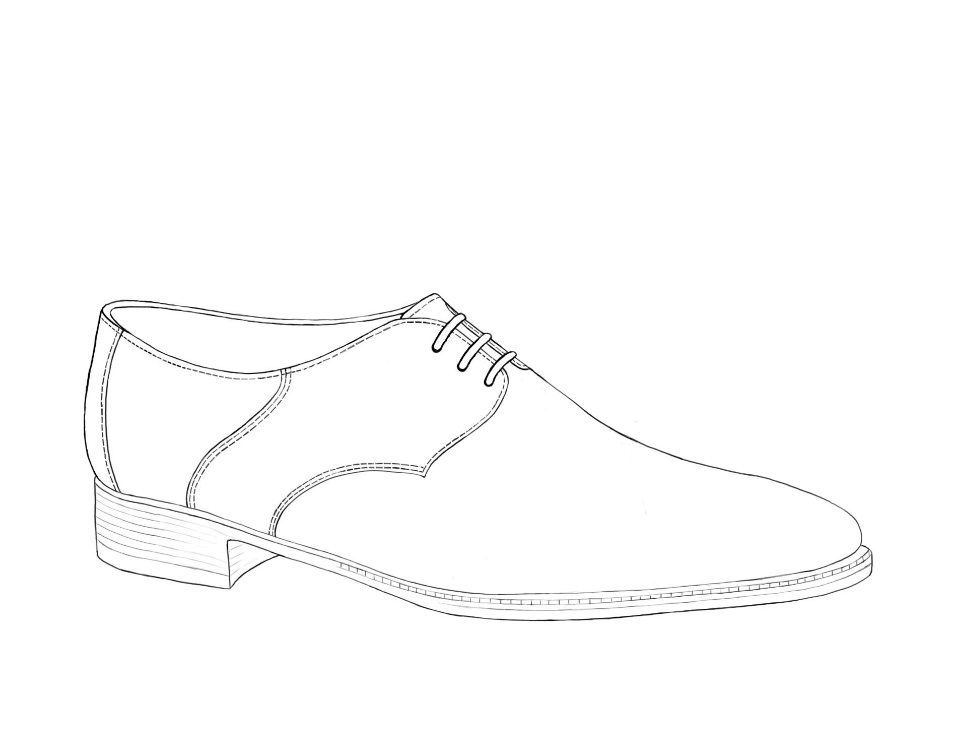 Derby Shoe Illustration Gilbert & Bailey