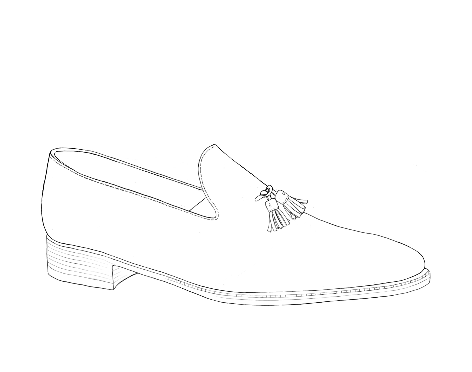 Loafer Tassle Shoe Illustration Gilbert & Bailey