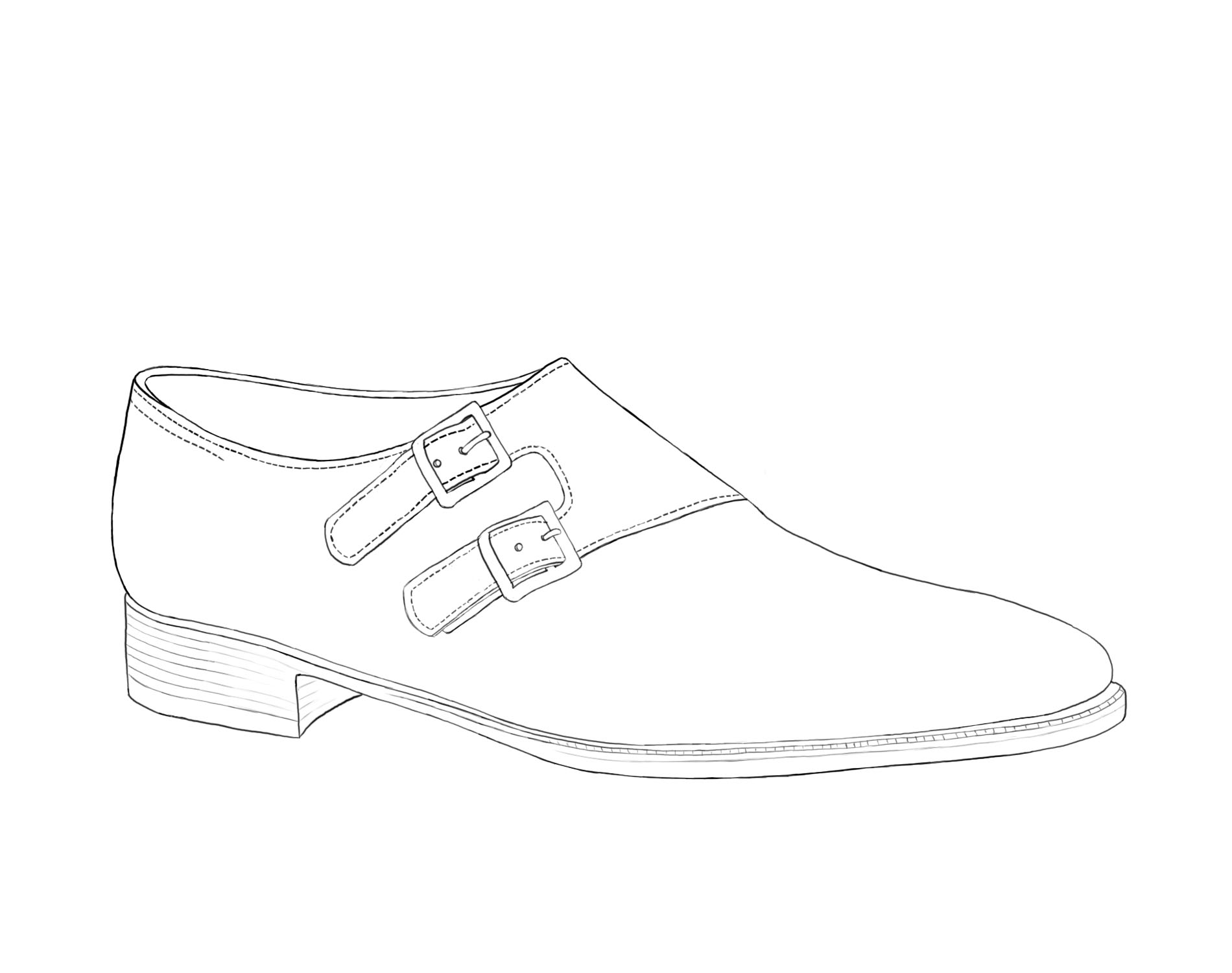 Monk Strap Shoe Illustration Gilbert & Bailey