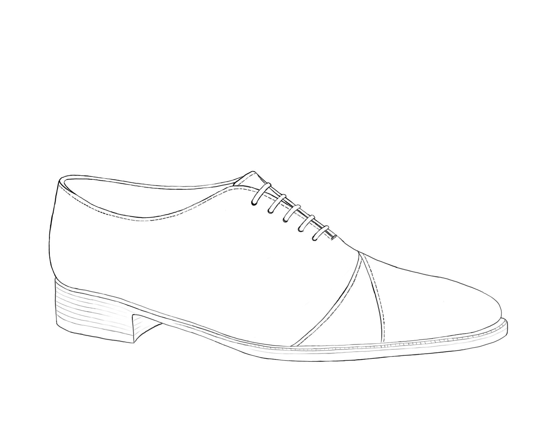 Oxford Shoe Illustration Gilbert & Bailey