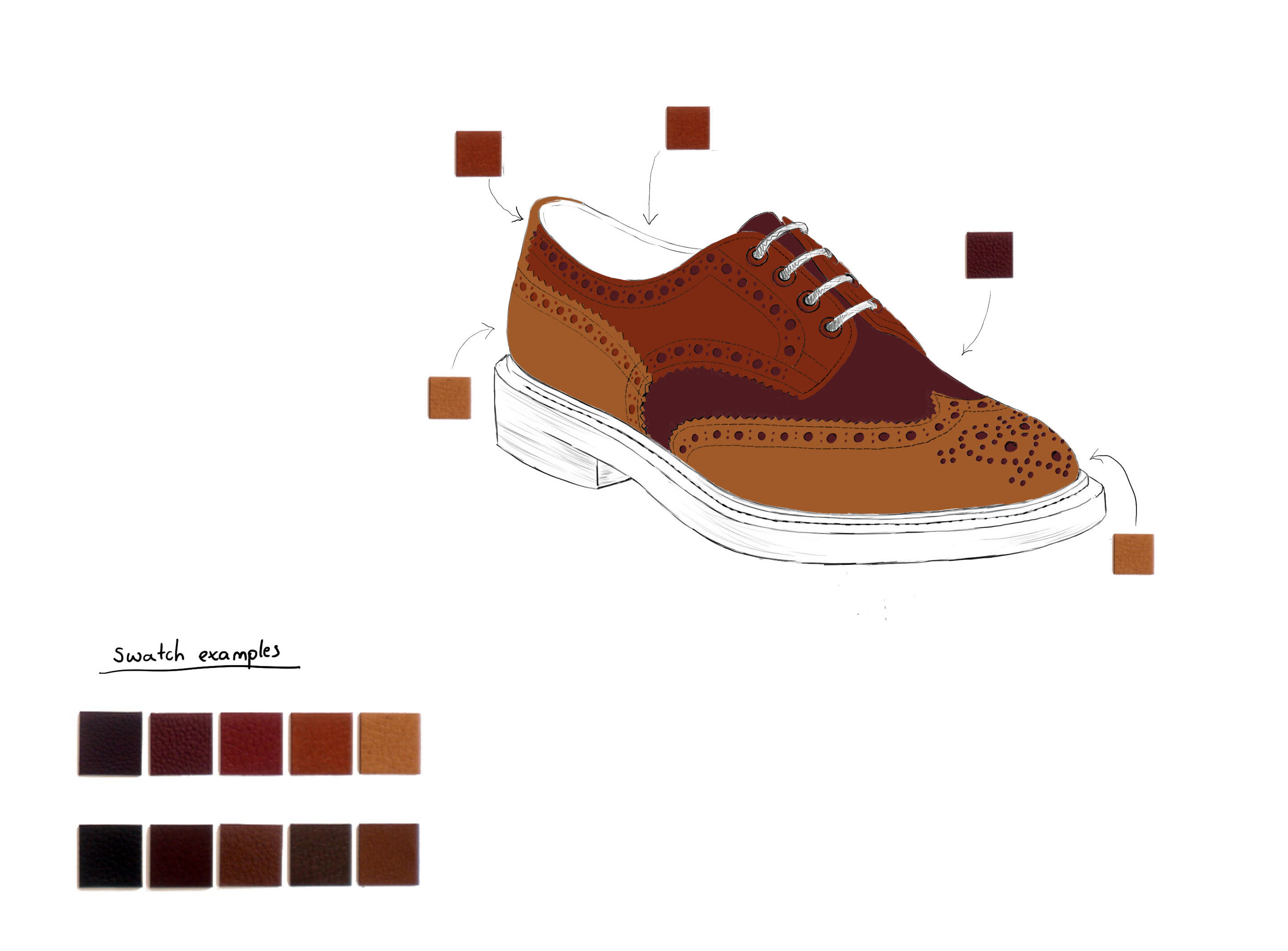 Gilbert & Bailey shoe sketch